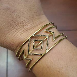 Black pave Cuff bracelet